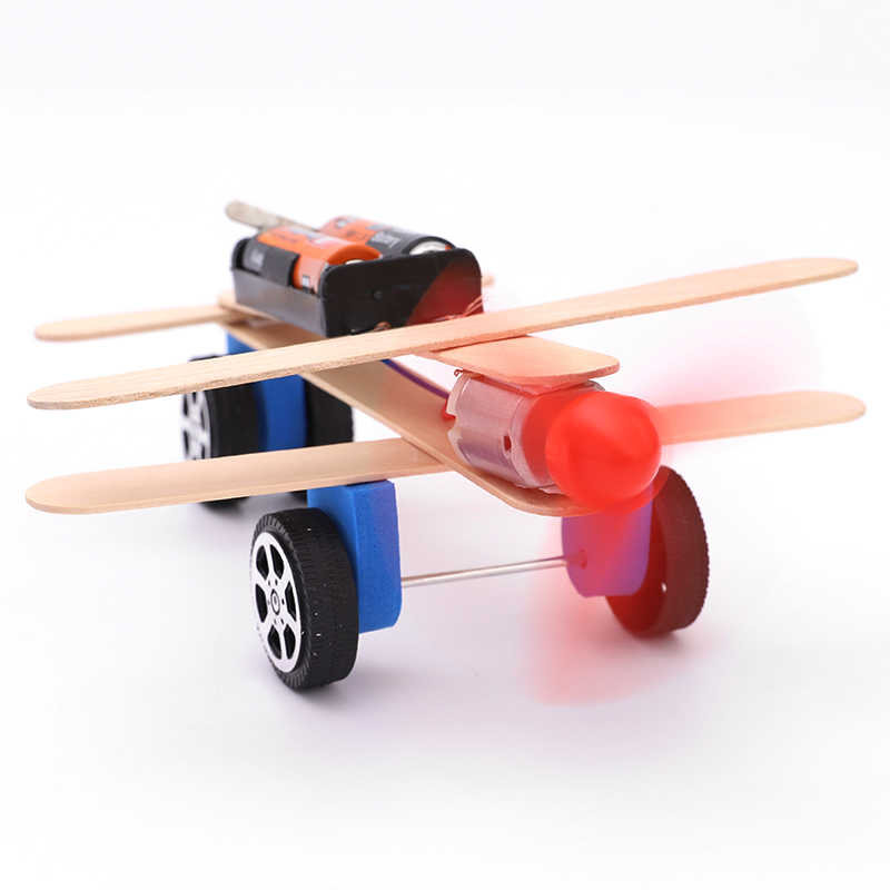 1 PCS Mini Wind Powered ชุด DIY รถ