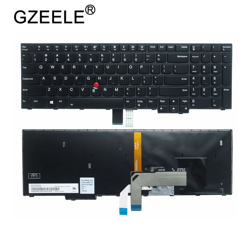 GZEELE New For IBM For Lenovo For ThinkPad S5 2nd Gen S5-2ND Generation E560P Type 20JA PK131X51B00 US Backlit Keyboard