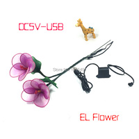 For Nighttime Party Show Led Strip Christmas Home Interior Decor Flower EL Cable Rope Flashing Hibiscus
