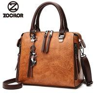 Fashion pu leather Women Shoulder Bag Female Tassel Pendant Women Handbag Double zipper Large Women Messenger Bags Sac
