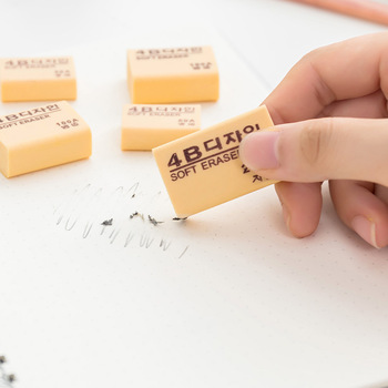 Study supplies wholesale 4B fine arts eraser South Korea 100A eraser feel comfortable School Correction Supplies image