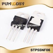 100 個にSTP55NF06 220 P55NF06 TO220 新mos fetトランジスタic