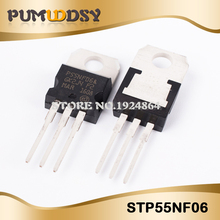 100PCS STP55NF06 ZU 220 P55NF06 TO220 neue MOS FET transistor IC