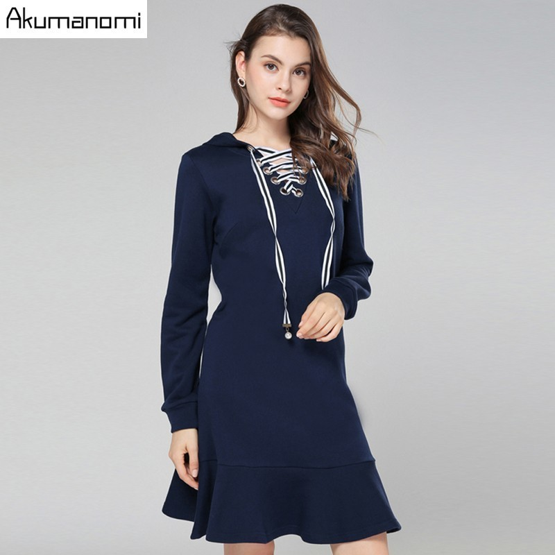 Aliexpress.com : Buy Autumn Solid Cotton Dress Women ...