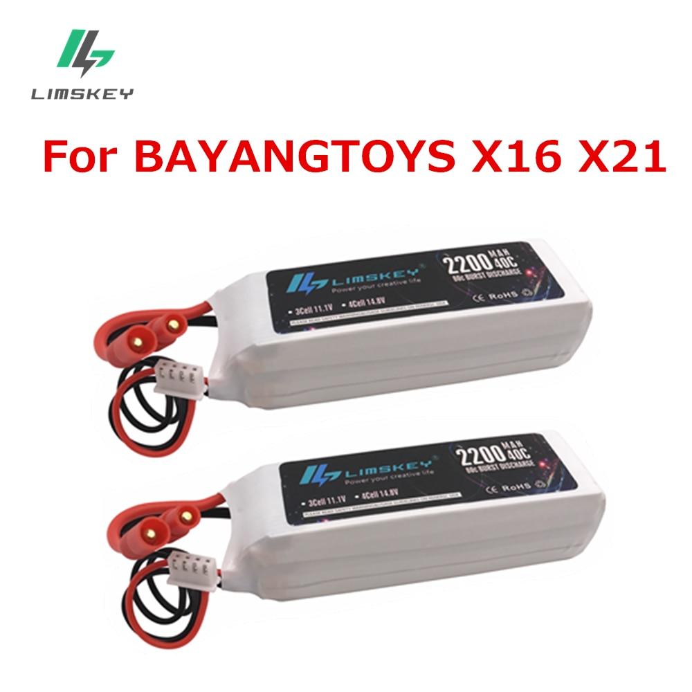 Limskey 2 pcs Pour BAYANG BAYANGTOYS X16 X21 11.1 V 2200 mAh pour Rc Quadcopter drone bayangtoys x21 x16 LIVRAISON GRATUITE