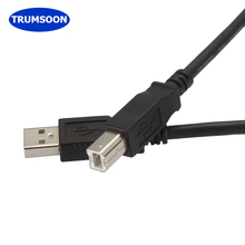 Trumsoon USB2.0 Print Cable Scanner Printer Cable Type A Male to B Male Sync Line for PC Printer
