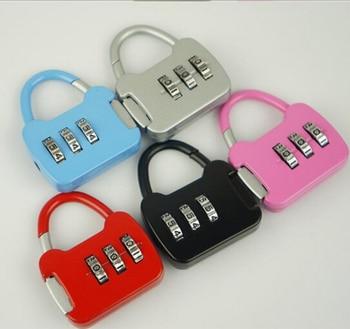 5171b5b7bed1 Padlock 3 Digit Dial Combination Code Number Lock For Luggage Zipper