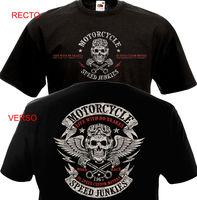 Забавная одежда, повседневные футболки с короткими рукавами, футболка, Байкерский мотоцикл, футболка Motard MC