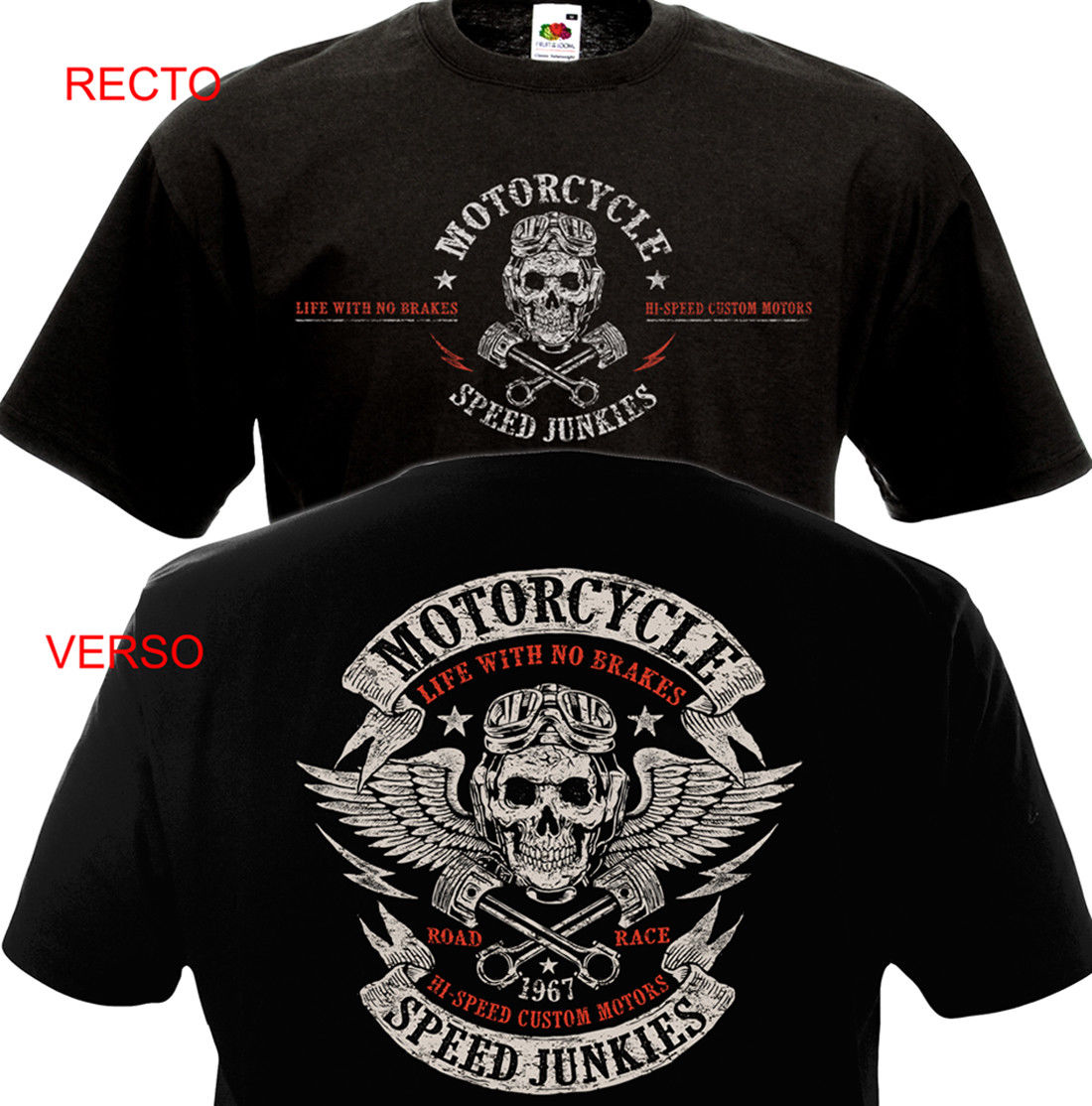 Funny Clothing Casual Short Sleeve Tshirts <font><b>T</b></font>-<font><b>shirt</b></font> MOTORCYCLE SPEED JUNKIES Biker Chopper Motard <font><b>MC</b></font> <font><b>T</b></font>-<font><b>shirt</b></font> image