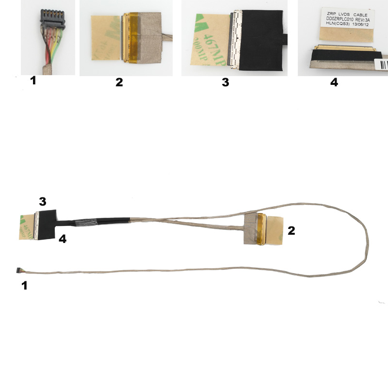 Naujas nešiojamojo kompiuterio kabelis ASUS X555LD-1B X555L W509L - Kompiuterių kabeliai ir jungtys