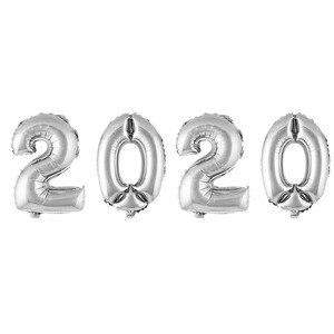 Image 3 - 4Pcs 2020 Aantal Folie Ballonnen Zilver Digit Air Ballonnen Kerstversiering Gelukkig Nieuwjaar 2020 Globos Nieuwjaar Decor