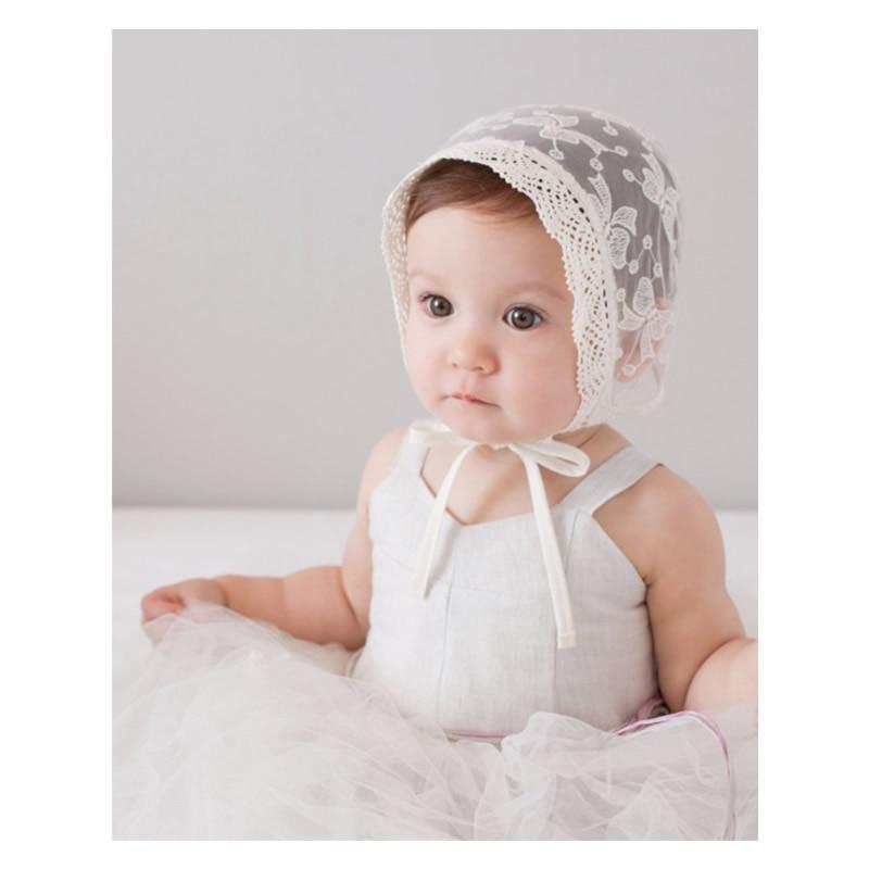 Girl Baby Newborn Kids Lace See-through Hat Cap Beanie Bonnet Hair Accessories