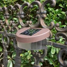 Outdoor Garden Solar Powered Light Gutter Fence Path Wall 2 LED Lamp For walls 11.8*8.1*5.8cm