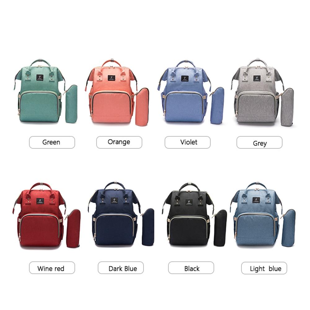 HTB1K3ikbvjsK1Rjy1Xaq6zispXaz Baby Diaper Bag With USB Interface Large Capacity Travel Backpack Nursing Handbag Waterproof Nappy Bag for Baby Care with 2 Hook