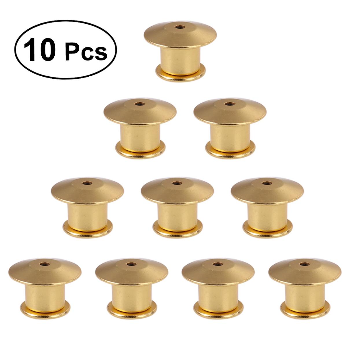 For Badge Books Hats Bag 10//20x Locking Pin Backs Metal Locking Clasp Pin Keeper