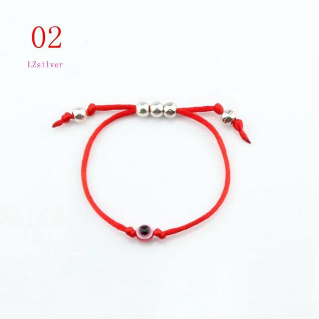 Kabbalah Red String Acrylic Eye Bead Bracelet