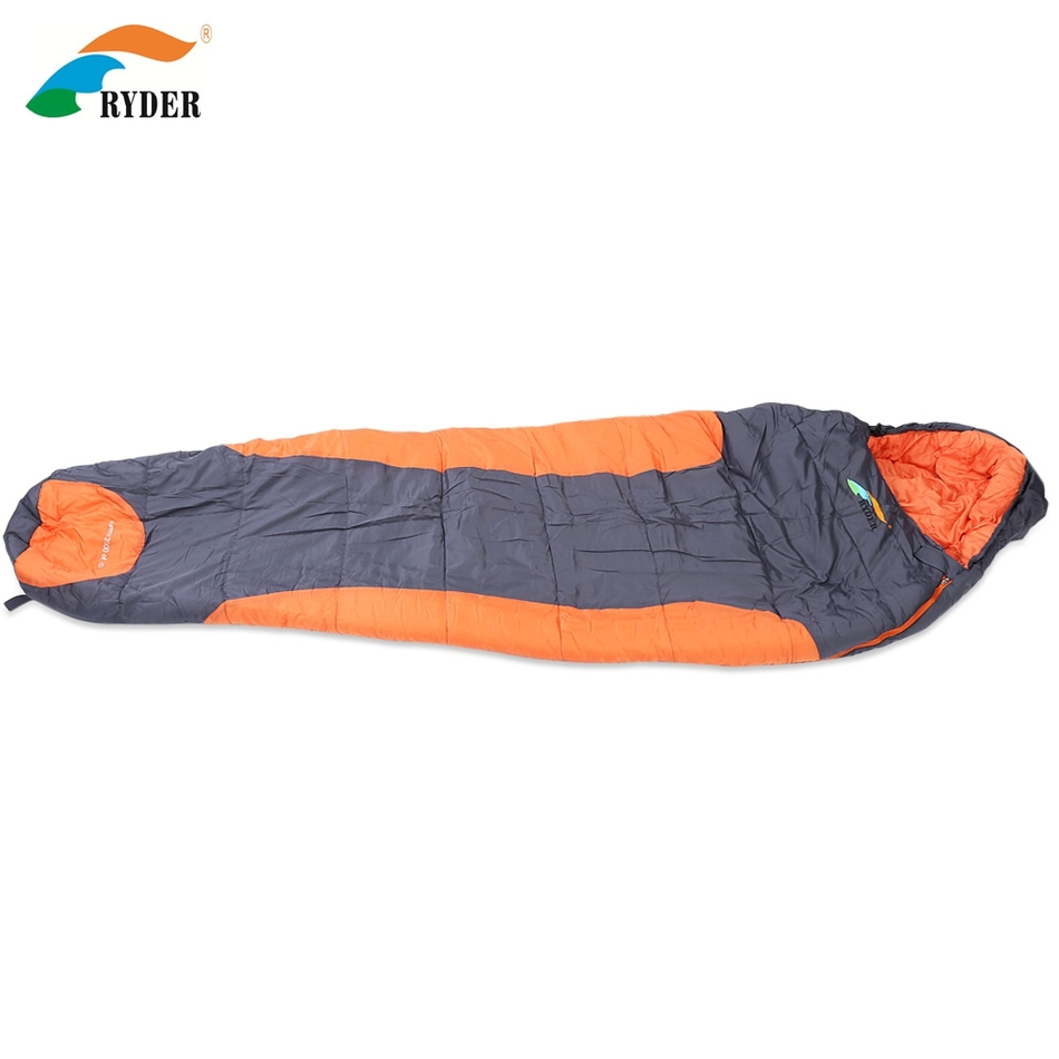 RYDER D1006 Multifunction Portable Thicken Cotton Spring Winter Sleeping Bag for Outdoor Camping Hiking Traveling outdoor traveling nylon thicken zipper passport storage bag black