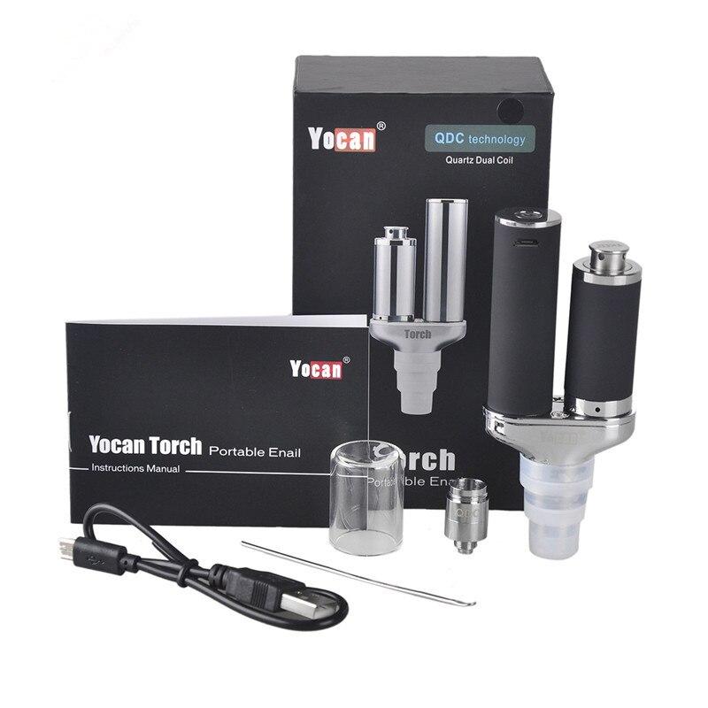 Authentic Torch For Wax Vaporizer Dry Herb Vaporizer Partable E Cigarette Wax Vape Dry Herb Atomizer