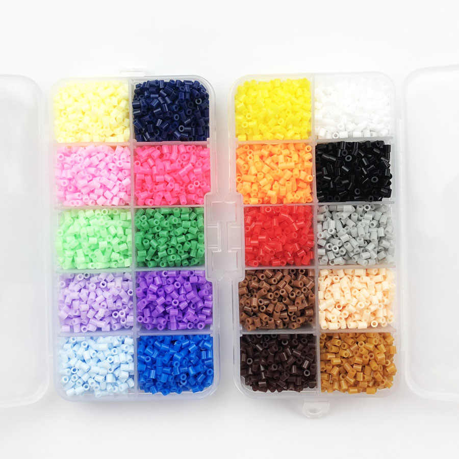 2 6mm hama beads box package pegboard perler beads kids education diy fuse bead jigsaw puzzle  [ 900 x 900 Pixel ]