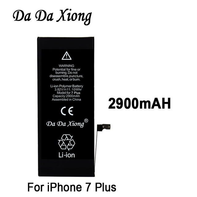 size 40 f5057 b43d7 US $76.89 6% OFF|10pcs Original Da Da Xiong Battery For Apple iPhone 7 PLUS  2900mAh Real Capacity With Machine Tools Kit Replacement Batteries-in ...