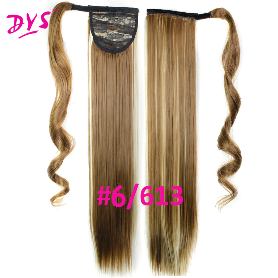 Deyngs 60cm Long Straight Clip In Hair Tail False Hair Ponytail Hairpiece With Hairpins Synthetic Hair Pony Tail Hair Extensions (14)