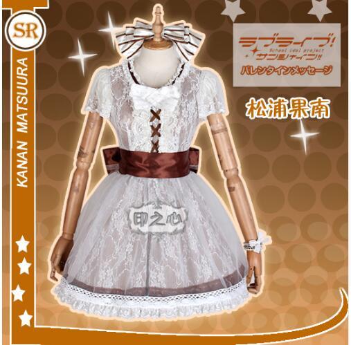 LoveLive!Sunshine!! Aqours Concert Anime AZALEA Matsuura Kanan Matsuura Uniforms Cos Cosplay Costume love live free shipping