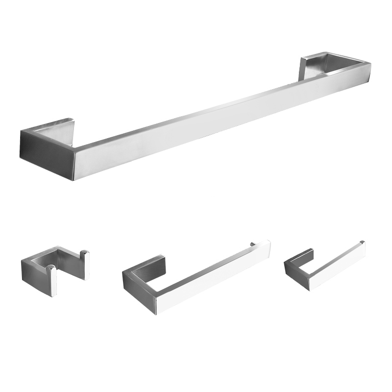 4 Piece/set 304 Stainless Steel Bath Hardware Sets Bathroom Accessories Set Single Towel Bar, Robe Hook, Paper Holder nickel brushed 304 stainless steel next bathroom accessories set single towel bar cloth hook paper holder bath hardware sets