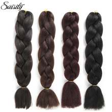 Saisity black brown 99J dark xpressions kanekalon braiding hair jumbo braids crochet hair box braids synthetic hair extensions(China)