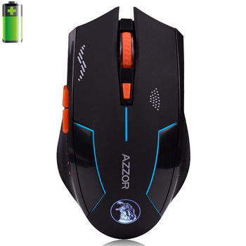 Azzor USB Rechargeable Computer Gaming Wireless Mouse For PC Laptop Built-in Battery With Charging Cable