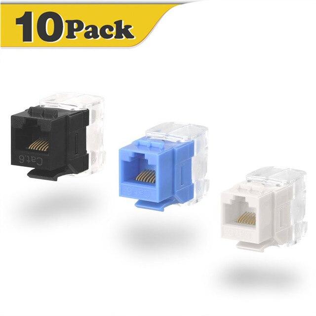 Network Cat6 RJ45 coupler UTP keystone modular extension jack plug ...