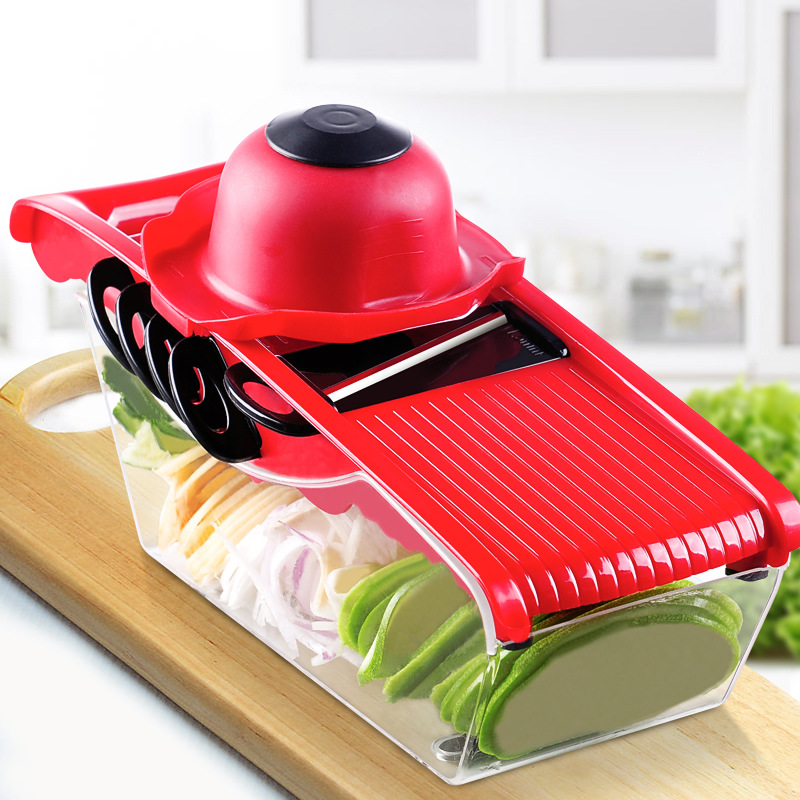 Multifunction Vegetable Slicers Cutter 5 Interchangeable Blade with Food Container, Peeler Fruit Veggie Kitchen Food Chopper