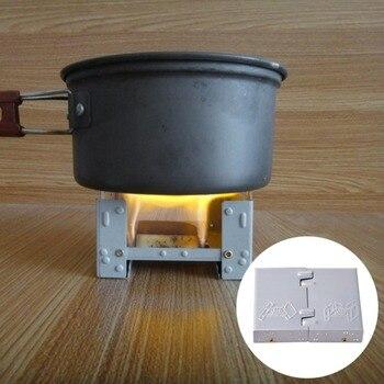 Cocina al aire libre mini ligero equipo de camping al aire libre estufa plegable bolsillo de la estufa de cocina al aire libre estufa de camping soporte