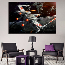 Star Wars Movie Poster Home Decorative Bedroom Or Office Wall Artwork 1 Piece X-Wing Aircraft Picture On Canvas Print Type