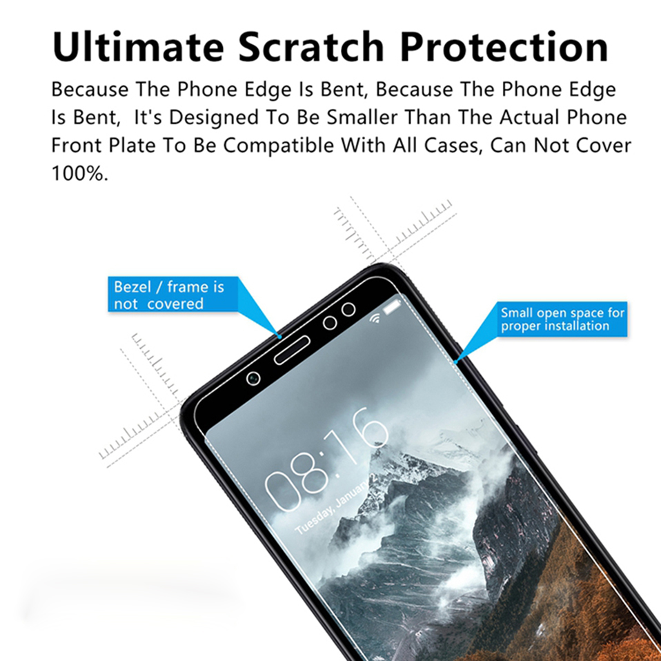 screen protector tempered glass for xiaomi redmi 6A 6 pro 4A 4x 3 3s note 7 5 6 pro(7)
