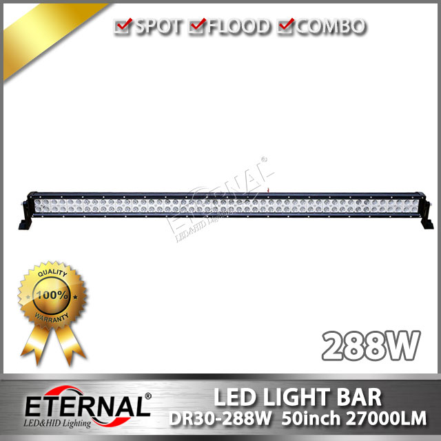 free shipping 50in light bar 288W offroad LED light bar high power driving lamp for off road ATV UTV 4x4 buggy racing led light