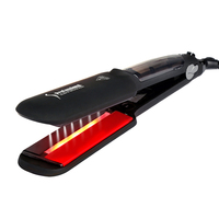 Professional Ceramic Steam Hair Straightener Conbined Ultrasonic Infrared Cold Care Iron To Recover The Damaged Hair