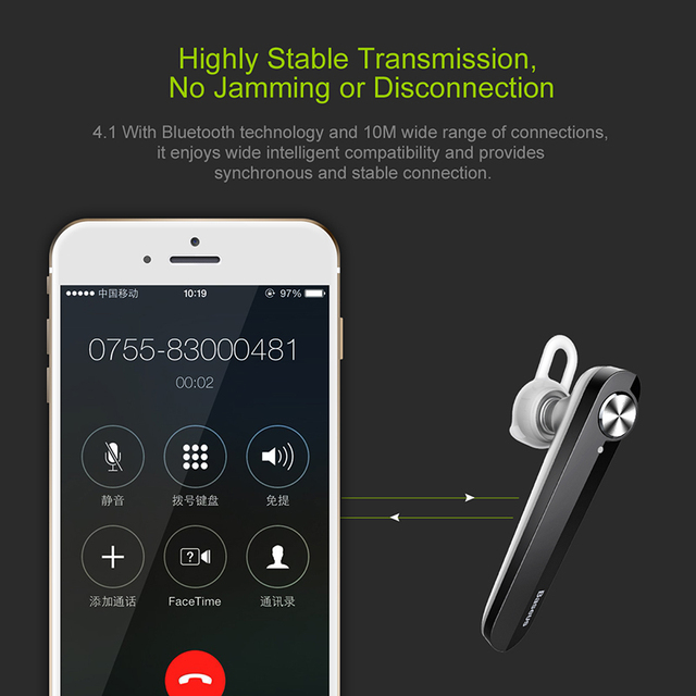With Microphone For xiaomi iPhone Driving Wireless Bluetooth Earphone Mini Business Portable Earphones