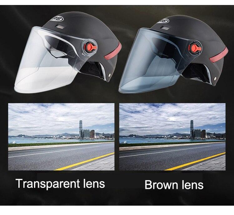 Image 4 - Мотоциклетный шлем электрический скутер с открытым лицом полушлемы анти УФ защитный шлем каска шлем для мотокросса несколько цветов Защитная крышка-in Шлемы from Автомобили и мотоциклы
