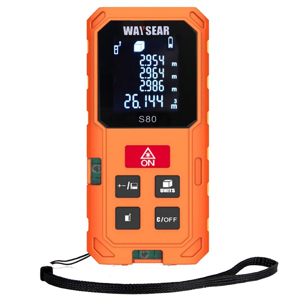 все цены на laser rangefinder range finder 40M 60M 80M 100m Electronic laser distance meter Ruler Measure Roulette tren Tape tools roulet