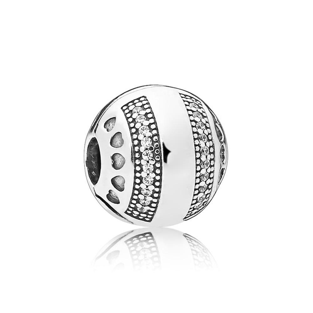 NEW 100% 925 Sterling Silver Original LOGO HEARTS CLIP Womens Fashion Jewelry Wedding GiftNEW 100% 925 Sterling Silver Original LOGO HEARTS CLIP Womens Fashion Jewelry Wedding Gift