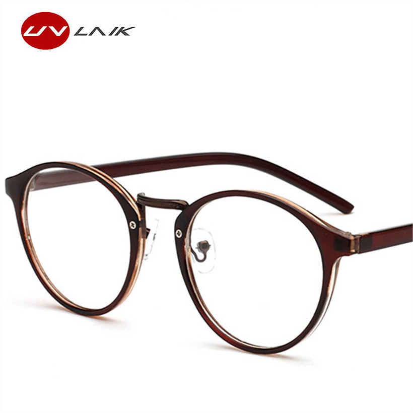 UVLAIK Optical Glasses Frame Boston Type Eyeglasses Myopia Frames ...