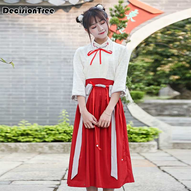 d88c87615 Detail Feedback Questions about 2019 new vintage yushengyan traditional chinese  hanfu custom ruqun han dynasty style clothing mori girl high waist long ...