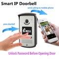 Контроль доступа Беспроводной WI-FI Видео-Телефон Двери IP Обнаружения Движения Дверной Звонок
