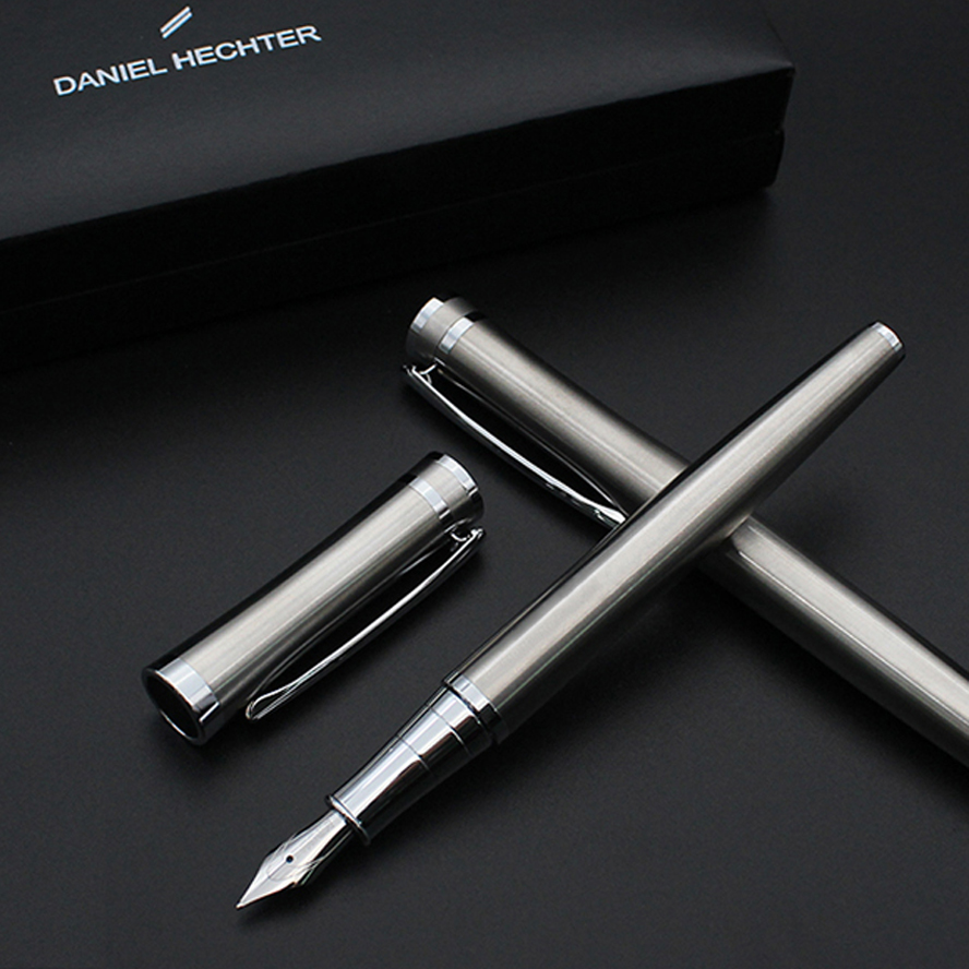 Luxury Jinhao Baoer 3035 Metal Fountain Pen 0.5mm Mb Nib Silver Clip Ink Pens for Writing Office Stationery Caneta Tinteiro latest design jinhao dragon and phoenix carving fountain pen stationery luxury metal writing gift art collection ink pens