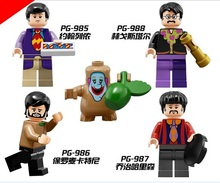 4pcs/Set Figures Building Blocks Sets china brand The Beatles compatible with Lego
