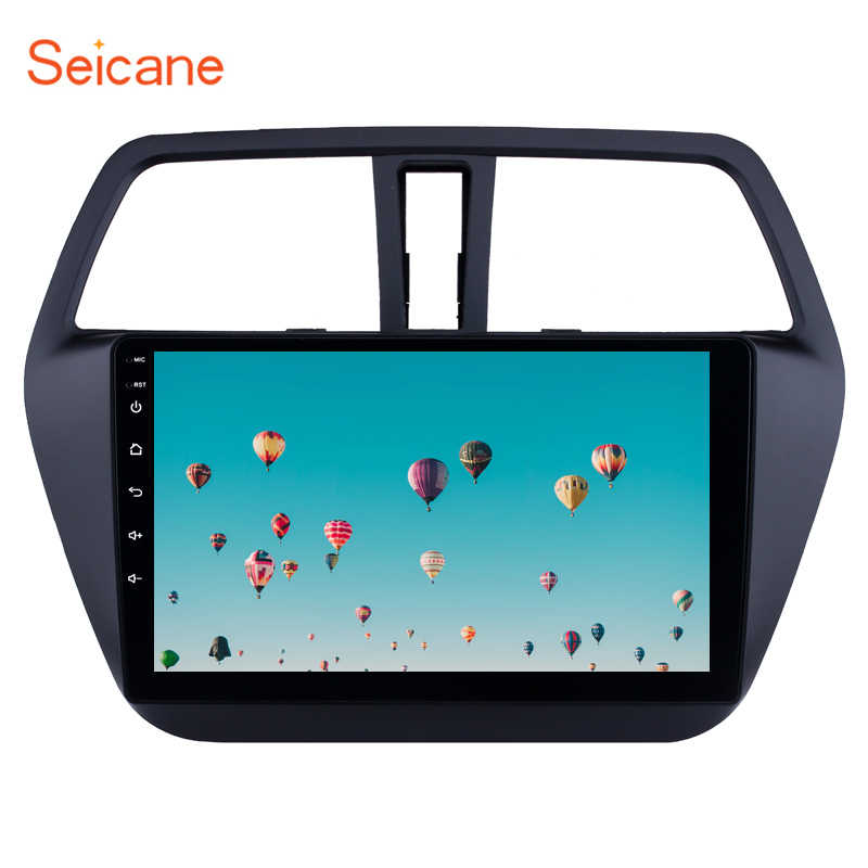 Seicane android 8.1 9 Polegada 2 din rádio do carro hd touchscreen wifi gps multimídia player para suzuki s-cross sx4 2014 2015 2016 2017