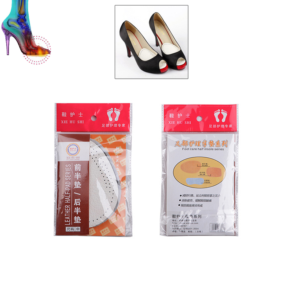 5 pairs Foot Care Tool High-heeled Shoes Forefoot Pad leather Cushion Pad Orthotic Insole Half Yard Pad Metatarsal Toe Support high heeled shoes forefoot pad silica gel half yard pad transparent insole thickening slip resistant pad