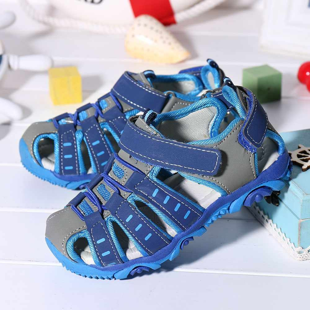 Children Kids Shoes Boy Girl Closed Toe Summer Beach Sandals Shoes Sneakers summer baby barefoot sandals sandali neonata sandale