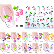 New 10 styles Mixed Flower Pattern Watermark Nail Art Stickers Wraps Water Transfer Tips Decals Beauty Temporary Tattoos Tools