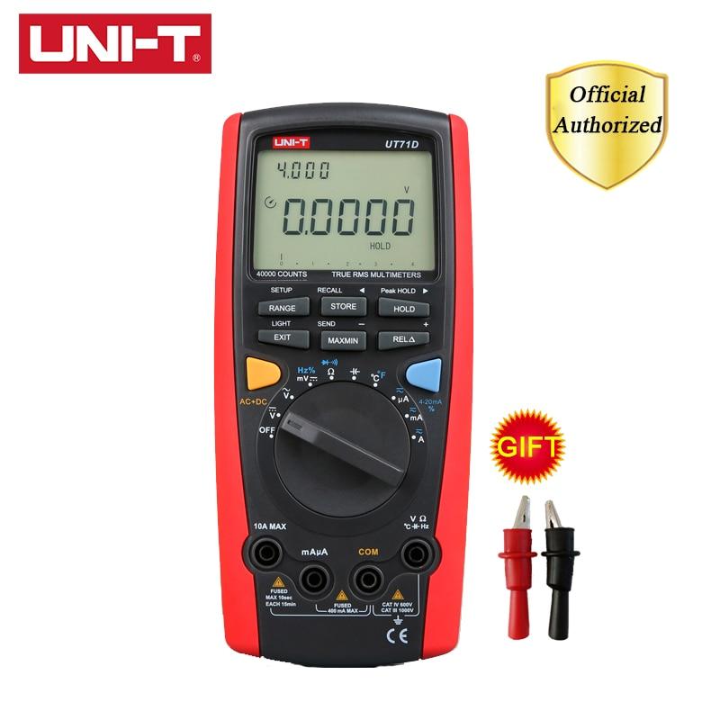 UNI T UT71D Smart Digital Multimeter True RMS 40000 Counts Volt Amp Ohm Capacitance Meter Thermometer USB Bluetooth Communicatio in Multimeters from Tools